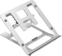 Grijze Case2go Opvouwbare laptop / macbook standaard - 11.6 tot 17.3 inch - Verstelbare hoogte - Aluminium - Zilver