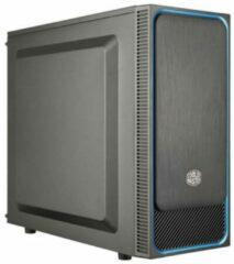 Cooler Master MasterBox E500L Midi-tower PC-behuizing Zwart, Blauw 1 voorgeïnstalleerde ventilator