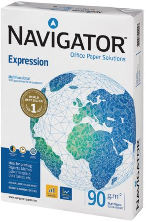 Afbeelding van Pak gesatineerd papier Navigator Expression A4 90 gr - 500 bladen wit