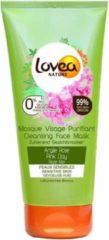 12x Lovea Gezichtsmasker Roze Klei Voor Gevoelige Huid 75 ml