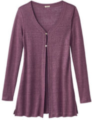 Enna Long-cardigan, cassis 40/42