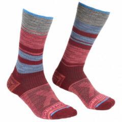 Ortovox - Women's All Mountain Mid Socks - Wandelsokken maat 42-44, rood/roze/grijs