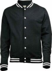 Awdis Volwassenen Unisex College Varsity Jacket (Jet Zwart)