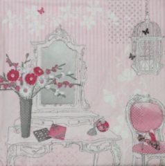 Roze Ti- Flair Servetten Dressing Table 33 x 33 cm