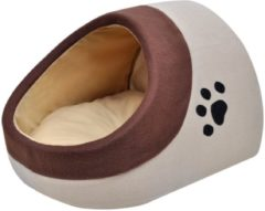 Beige VidaXL Kussen voor katten warm fleece XL