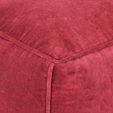 Afbeelding van VidaXL Poef 40x40x40 cm katoenfluweel rood
