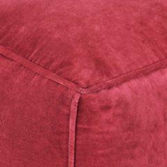 VidaXL Poef 40x40x40 cm katoenfluweel rood