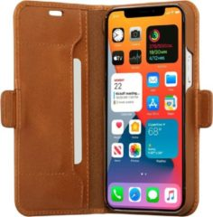 Bruine Dbramante1928 DBramante slim wallet bookcover Copenhagen - tan -voor Apple iPhone 12/12 Pro