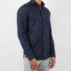 Blauwe Valenci Heren Overhemd Navy