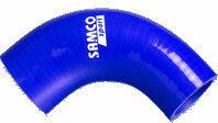 Samco Sport Samco 90 graden bocht verloopstuk blauw - Lengte 125mm - Ø89<gt/>76mm
