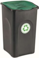 Groene YILTEX – Ecogreen – Vuilnisbak – Geel Met Zwart– 50l