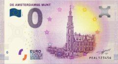 Paarse 0 Euro Biljet 2019 - De Amsterdamse Munt