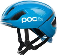 Blauwe POC POCito Omne SPIN Kinderhelm - Maat XS - Fluorescent Blue POCito Omne SPIN