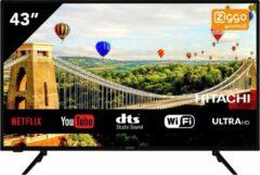 Zwarte Hitachi 43HK5600 Ultra HD/ 4K 43 inch Smart TV