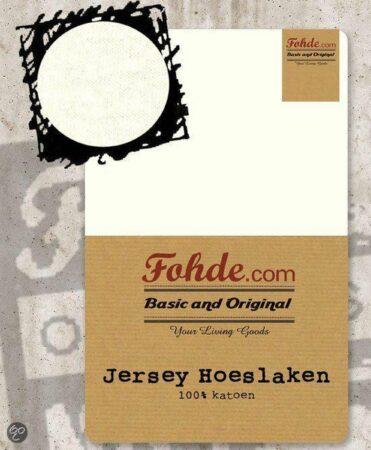 Afbeelding van Fohde Hoeslaken Jersey hoeslaken - 80 X 210 cm - Beige