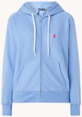 Blauwe Ralph Lauren Sweatvest met capuchon en logoborduring