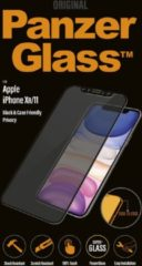 Transparante PanzerGlass screenprotector iPhone XR/11 Privacy filter