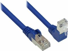 S-Conn S-Impuls S/FTP CAT6 Gigabit netwerkkabel haaks/recht / blauw - 2 meter