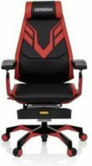 Hjh OFFICE Genidia Elite PRO - Racing directiestoel/bureaustoel - Zwart / Rood - Leder
