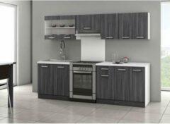 Autre ULTRA Complete keuken met werkblad L 2m40 - Eiken mat grijs decor