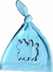 Anha'Lore Designs - Hazel - Babymuts - Lichtblauw/zwart