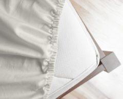 Creme witte Primaviera Deluxe Satijnen - Hoeslaken - 180 x 200 - Creme