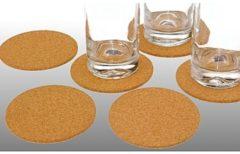 ARO-products Onderzetter 6st Kurk Rond Ca. 10cm