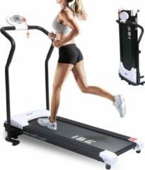 Zwarte ISE SY1001 Appartement Loopbanden 10 km/H - Compacte en lichtgewicht opvouwbare elektrische loopband Fitness Sport