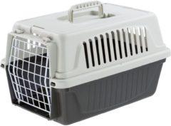 Ferplast Vervoersbox Atlas 5 - Kattenvervoersbox - Grijs - 28 x 41,5 x 24,5 cm