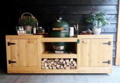 Bruine Heavenly Garden BBQ Tafel Pitmaster - Eikenhout