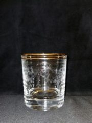 Gouden JG Durand Whisky glas - 6 set - 30cl - J.G.Durand - Cristal - Amboise