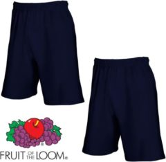 Marineblauwe Fruit of the Loom (2 Pack) Korte Broeken Blauw Maat S