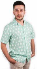 Lichtblauwe BiggDesign AnemosS shirt met korte mouwen | Herenkleding | Zomermode | Zeemeeuw Thema | Limited Edition Design | Casual kleding | Katoenen stof | Digitaal printen