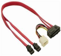 DeLOCK Cable SAS 29pin > 2x SATA (SFF 8482 > 2x SATA + Power) (83054)