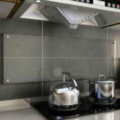 VidaXL Spatscherm keuken 120x40 cm gehard glas transparant