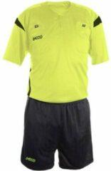 Geco Sportswear Scheidsrechter set Mistral Neon/Grijs korte mouw / maat: XS