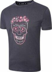 Antraciet-grijze Dare 2b T-shirt Kids' Go Beyond Junior Katoen Antraciet Mt 140
