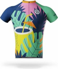 Blauwe Billy Brewster - Coconut wielershirt - Fietsshirt Heren - maat M