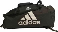 Adidas Training Sporttas Polyester 2 in 1 Zwart/Wit Large