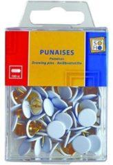 Soho Punaises 1 X 1 Cm Staal Wit/goud 100 Stuks