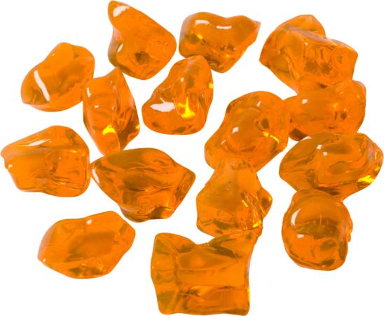 Afbeelding van Adori Kunststofkiezels - Aquarium - Siergrind - Geel&Oranje