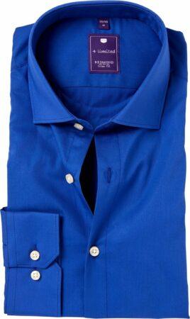 Afbeelding van Blauwe Redmond Strak getailleerd Onbekend Heren Overhemd Maat L