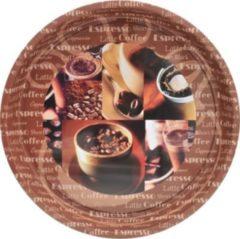 Tablett mit Kaffee-Motiv Kaffeebohnen HTI-Living Dunkelbraun