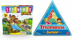 Hasbr Kinderspelvoordeelset Levensweg Junior - Bordspel & Triominos Junior