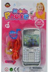 Zilveren Mijn Eerste Mobiele Telefoon - Speelgoedtelefoon