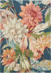 Sanderson - Dahlia & Rosehip Teal 50608 Vloerkleed - 250x350 cm - Rechthoekig - Laagpolig Tapijt - Klassiek - Meerkleurig