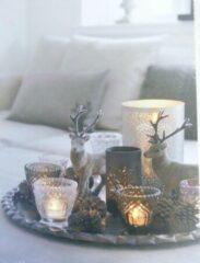 Peha Muurdecoratie Kerstsfeer Led 30 X 40 Cm Canvas Wit/grijs