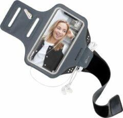 Grijze Mobiparts Comfort Fit Sport Armband Apple iPhone 11 Pro Max Zwart