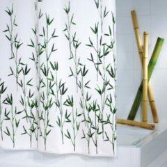 Verde RIDDER Tenda da Doccia Bambus in Tessuto 180x200 cm 47305