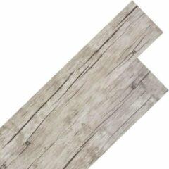 Grijze VidaXL Vloerplanken zelfklevend 5,02 m² 2 mm PVC washed eiken